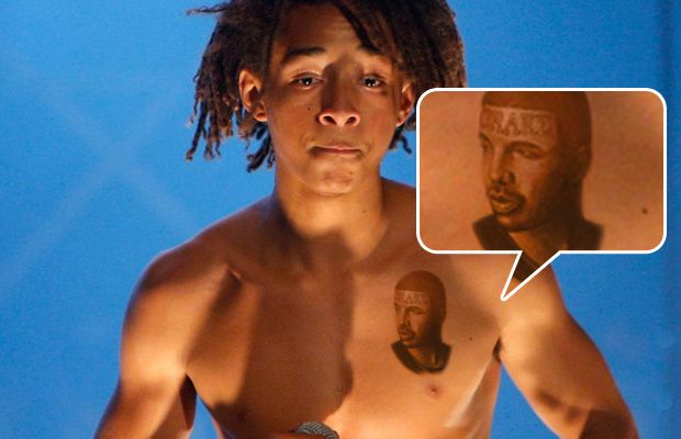 Jaden Smith Gets Tattoo Of Drake On His Chest The News Jaden