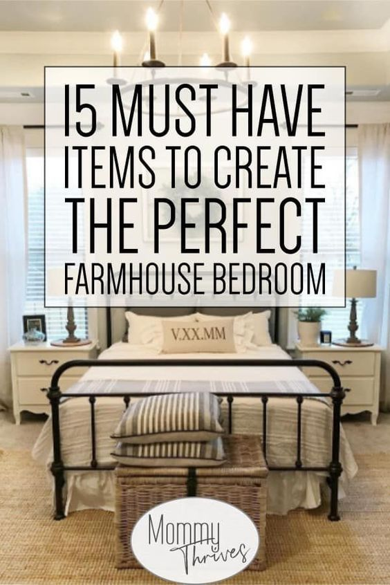 Get the Perfect Farmhouse Bedroom Decor - Mommy Thrives,  #Bedroom #Decor #Farmhouse #farmhousedecorbedroom #Mommy #perfect #Thrives