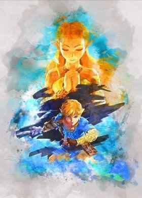 'Link / Legend of Zelda' Metal Poster Print - Gab Fernando | Displate