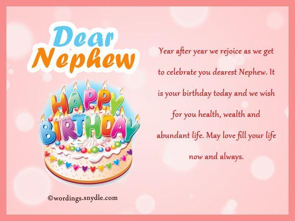 Nephew Birthday Messages Happy Birthday Wishes For Nephew Wordings
