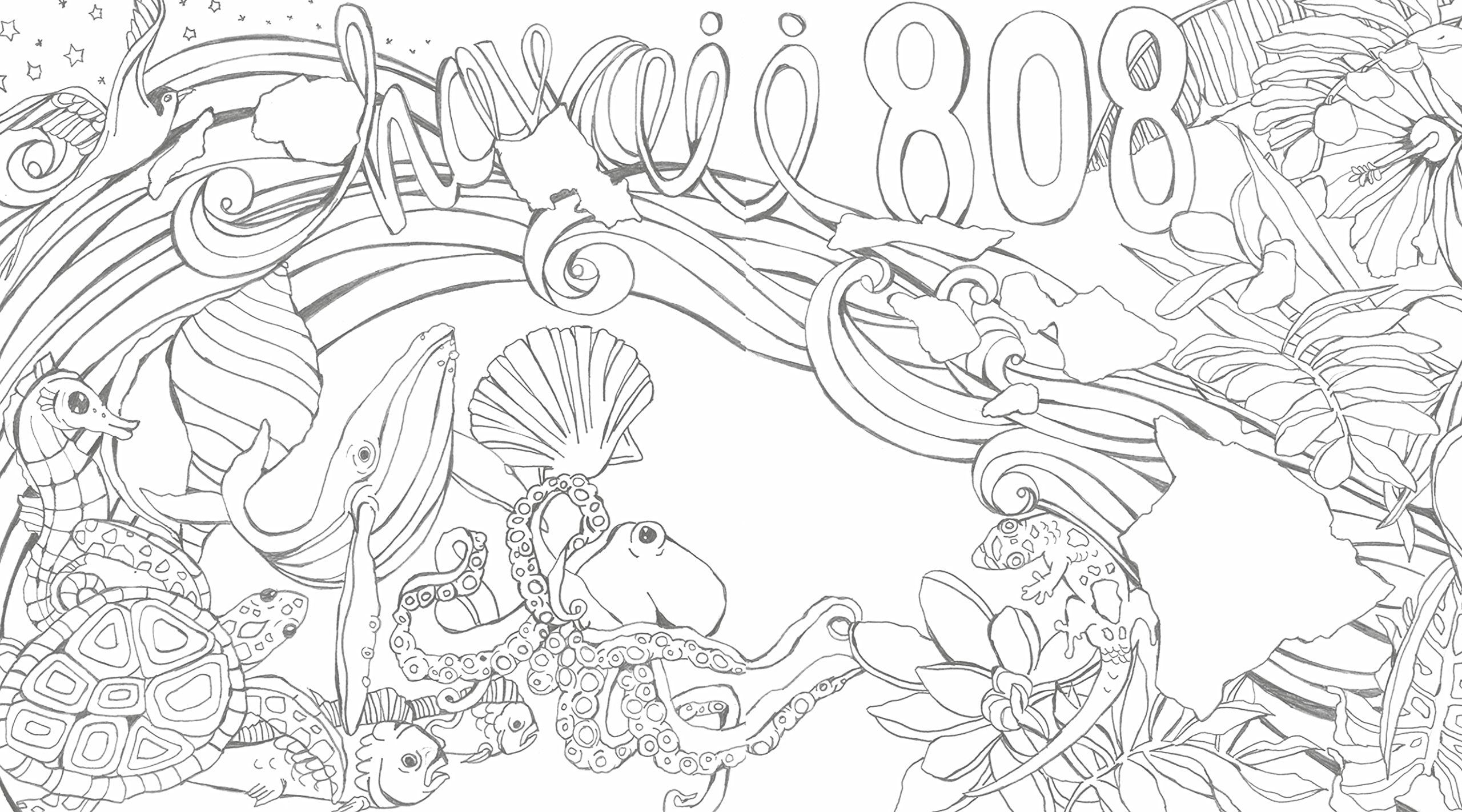 coloring books colors of hawaii - Hawaii Coloring Book