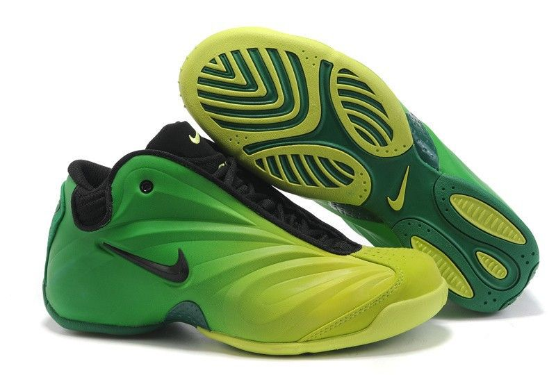 san francisco 4bc5e bfddd Nike Air Flightposite Green And Black fashion shoes