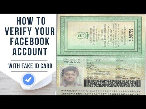 how to make fake id card for facebook verification verify facebook account verify - How To Make Id Card
