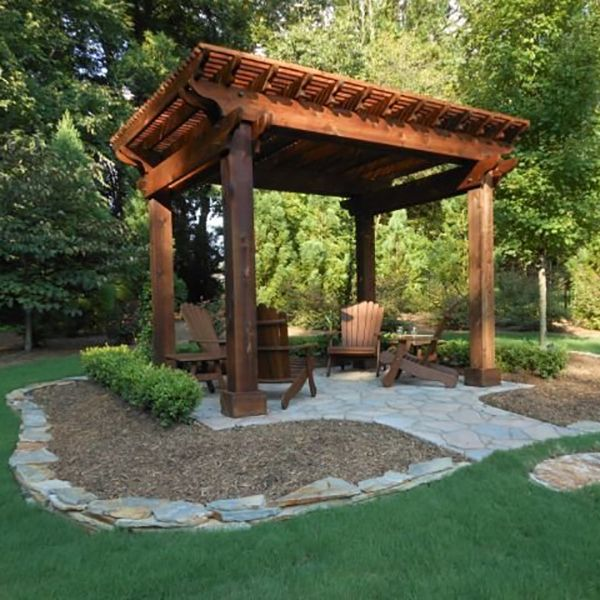 Create a shaded escape from the sun and a welcoming atmosphere for entertaining guests - Outdoor gazebo plans with fireplace ...