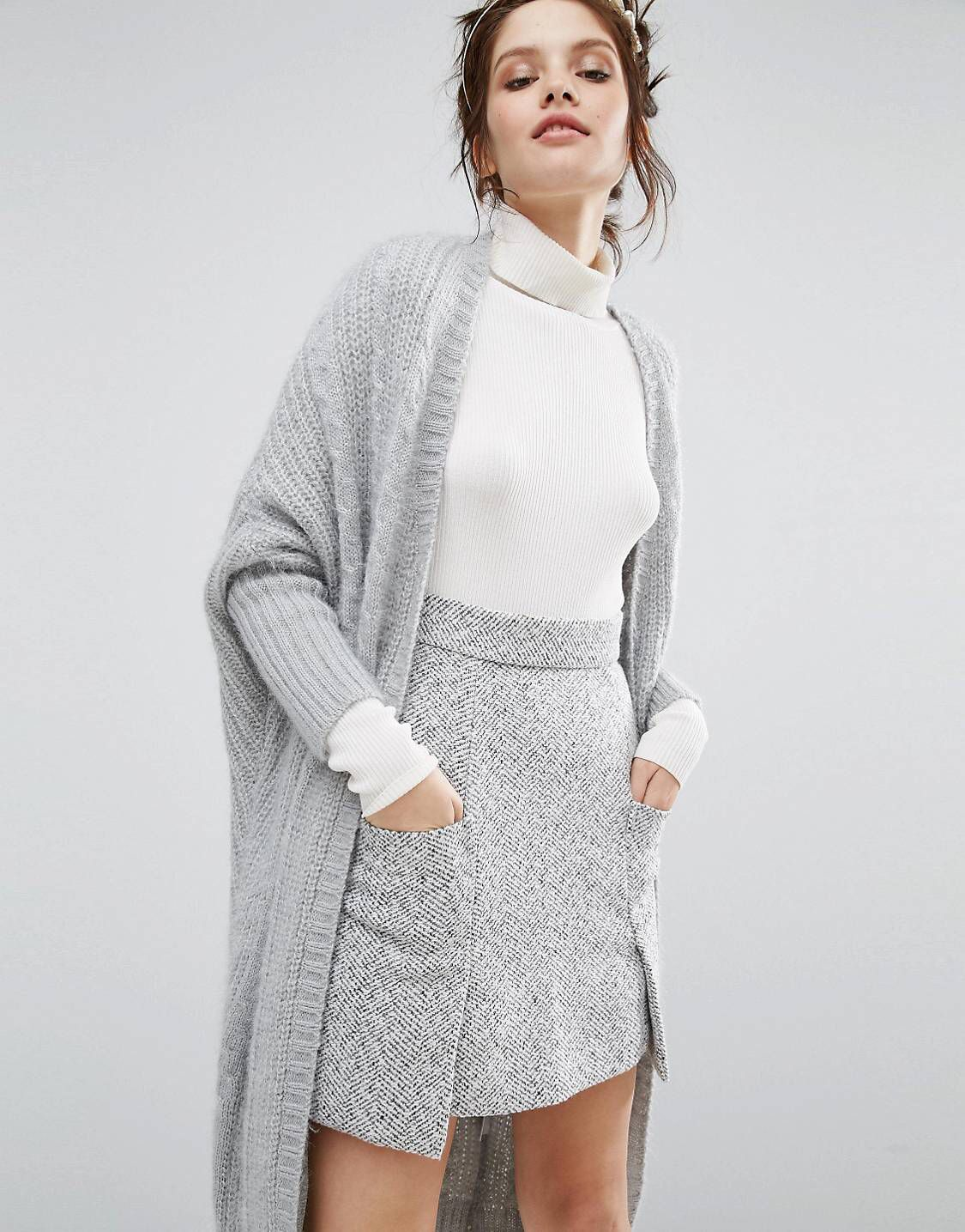 Willow and Paige Maxi Cable Knit Cardigan | Currently | Pinterest ...