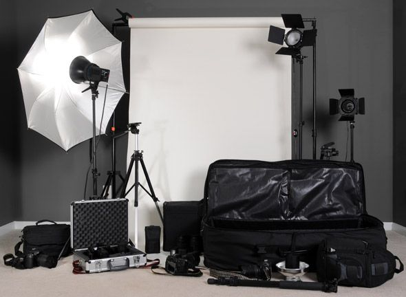 list of studio lights and other accessories from the beginner to the
