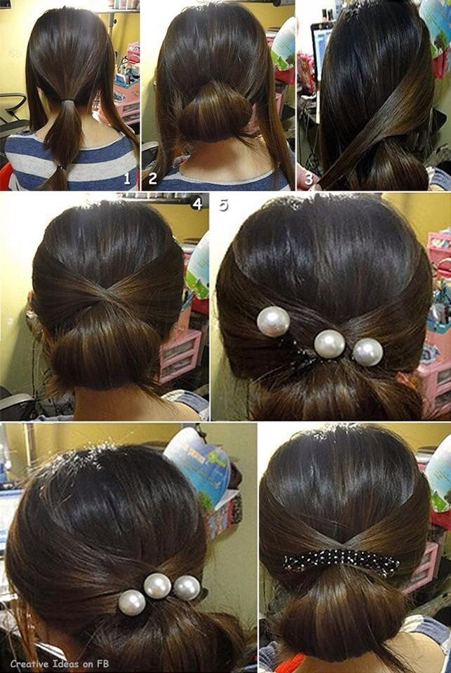 Simple Updo Bonus Asian Hair Hair Styles Diy Hairstyles