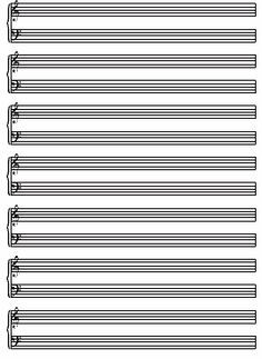 musical staff paper to print