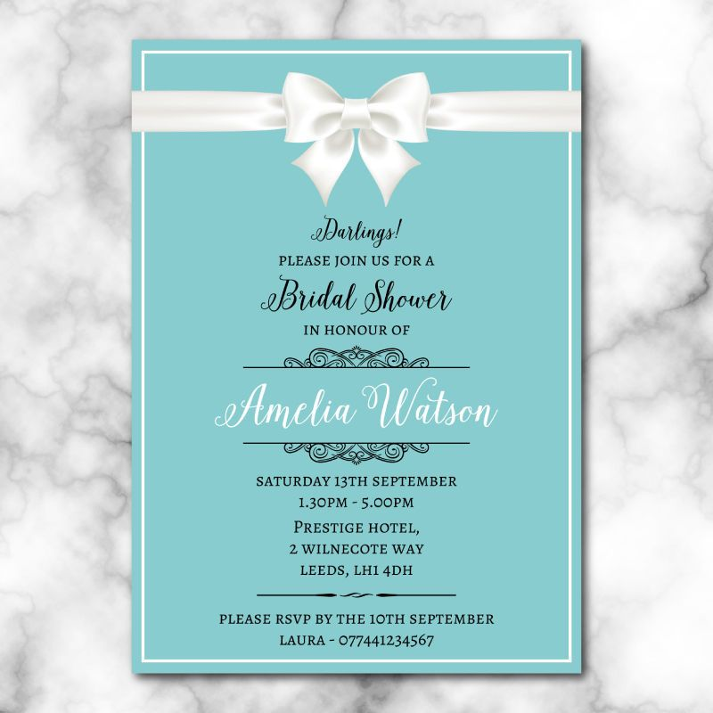 bridal shower invitations breakfast at tiffanys pack of 10 with envelopes