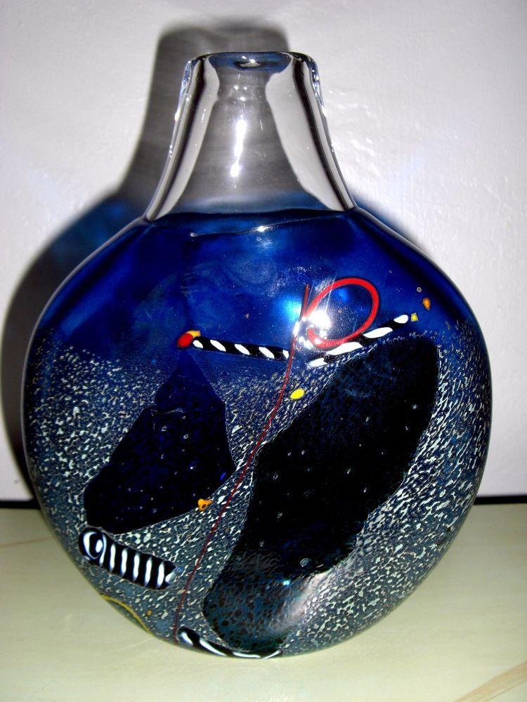 Kosta Boda Bertil Vallien Turquoise Satellite Blue Multicolored