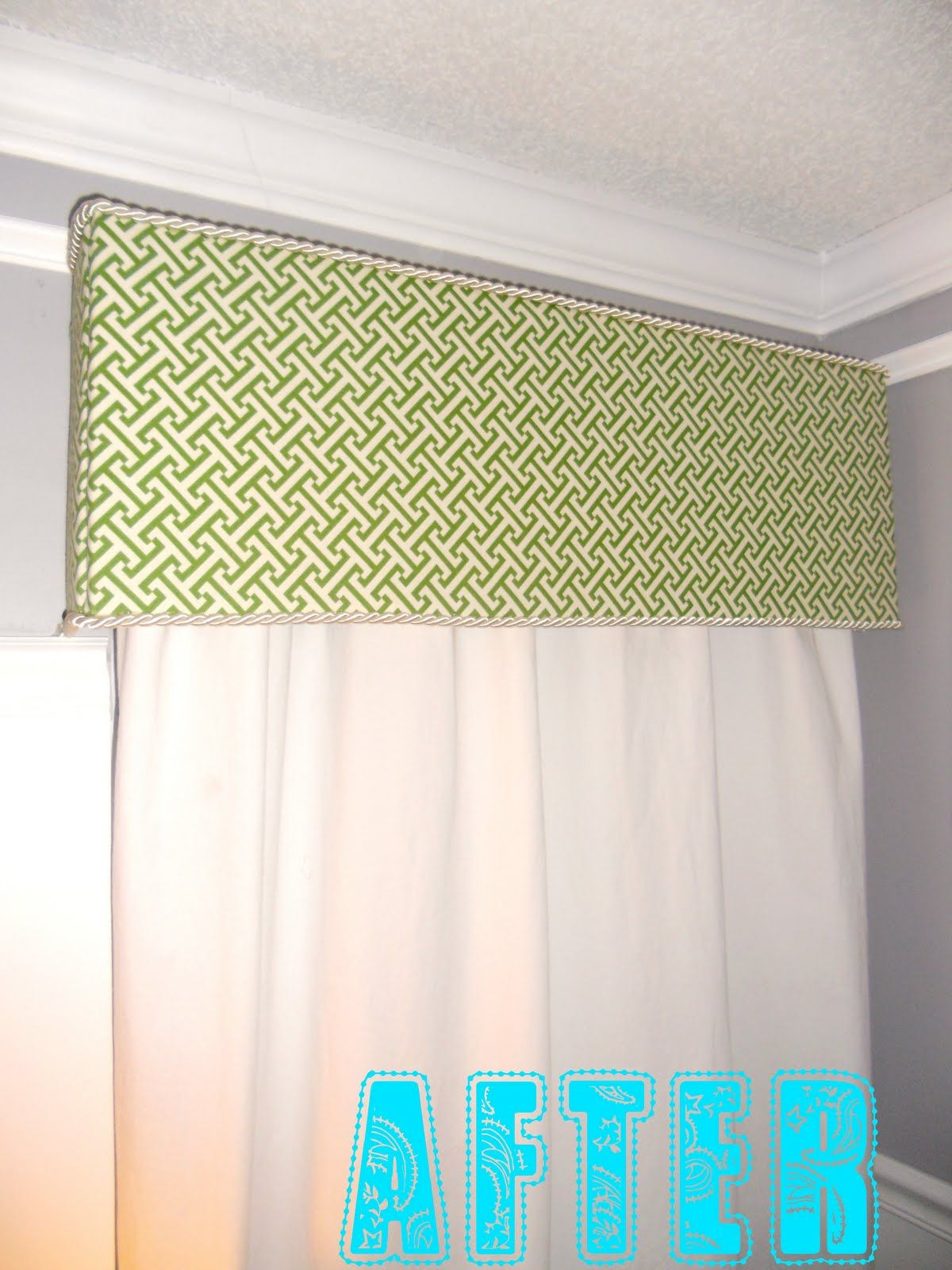 Window decor diy  brandi nell the southern belle new cornice boards for the bedroom