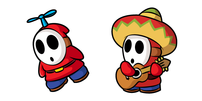 Super Mario Fly Guy And Sombrero Guy Super Mario Mario Shy Guy