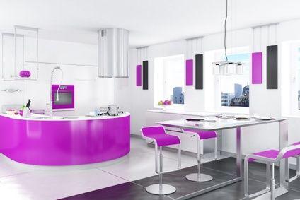 Küche-modern-interieur-design-in-roza-Farben | Wohn-Trends | Pinterest