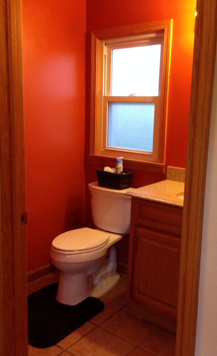 Burnt orange bathroom | Orange bathrooms, Burnt orange ...