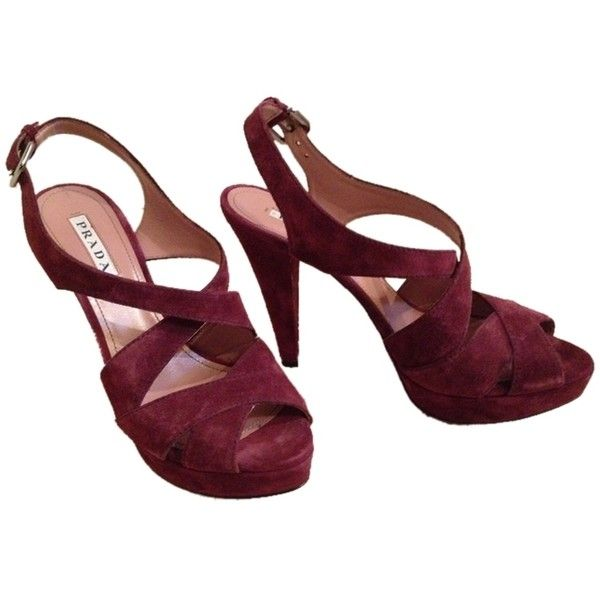 Pre-owned - Burgundy Sandals Prada 20Ptiu