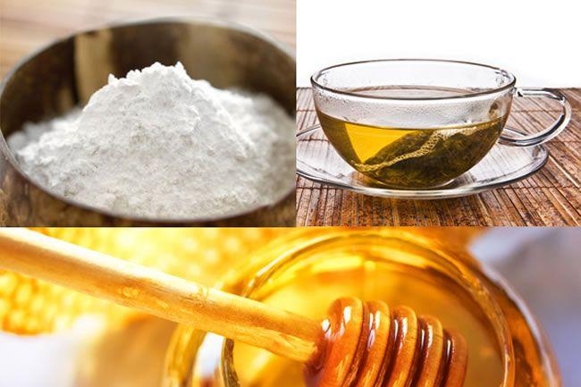Green mask tea honey flour rice Gigi Hadid's