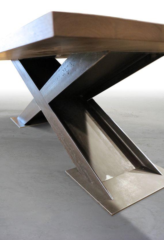 Brandner Design X I Beam Table Metal Furniture Steel
