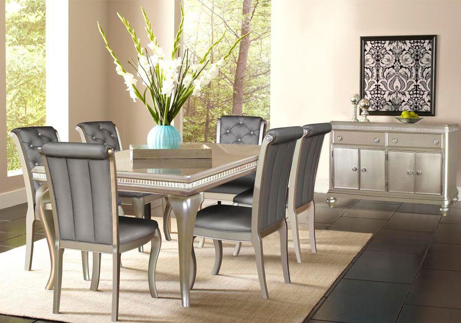 Hefner Platinum 5 Pc Dining Room In 2019 Formal Dining Dining