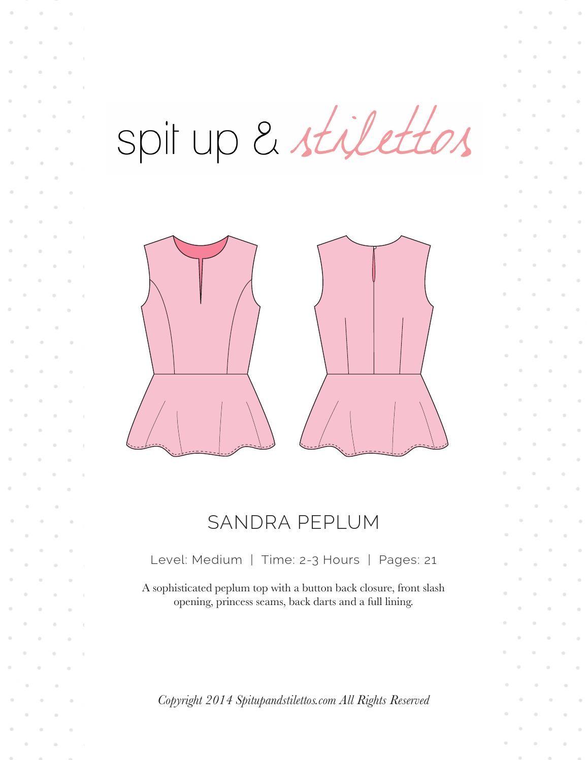 Sandra Peplum Sewing Pattern Spit Up & Stilettos | Tuto technique ...