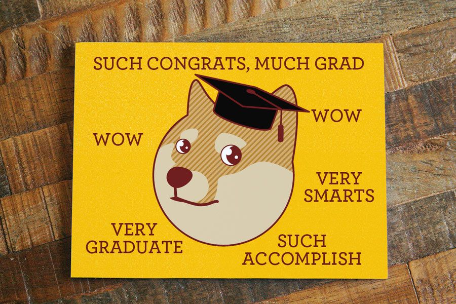 Funny Graduation Card Much Grad Funny Congratulations Card Shiba Inu Card Doge Card Funny Graduation Cards Funny Congratulations Cards Graduation Funny