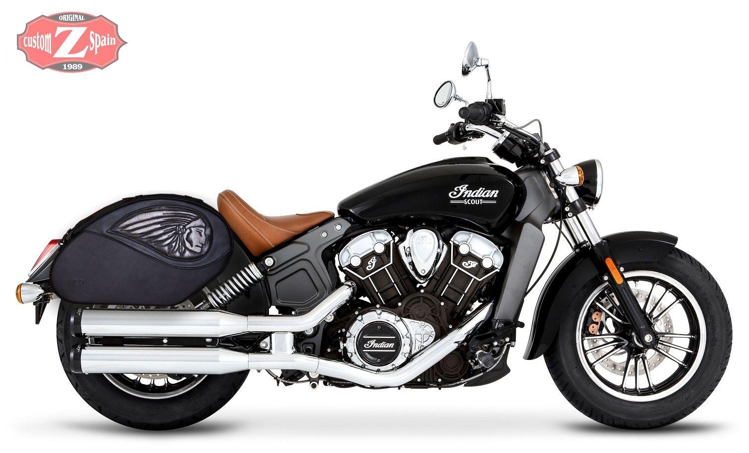 Alforjas Para Indian Scout Rigidas Modelo Vendetta Indian Saddlebag Www Customspain Com Explorador Indio Motocicletas Indian Motos Clasicas [ 915 x 1512 Pixel ]