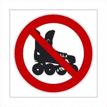Verboten Skaten Verboten Rollschuhe Fahren Verboten Aufkleber Aufkleber Skaten Rollschuhe