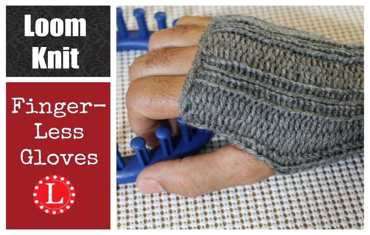 Loom Knitting Fingerless Gloves Mittens Project Pattern Loom