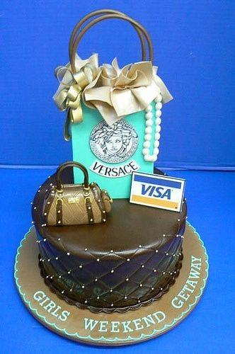 Remarkable Katiesheadesign Shoppers Cake By Deanne Cake Cupcake Funny Birthday Cards Online Benoljebrpdamsfinfo