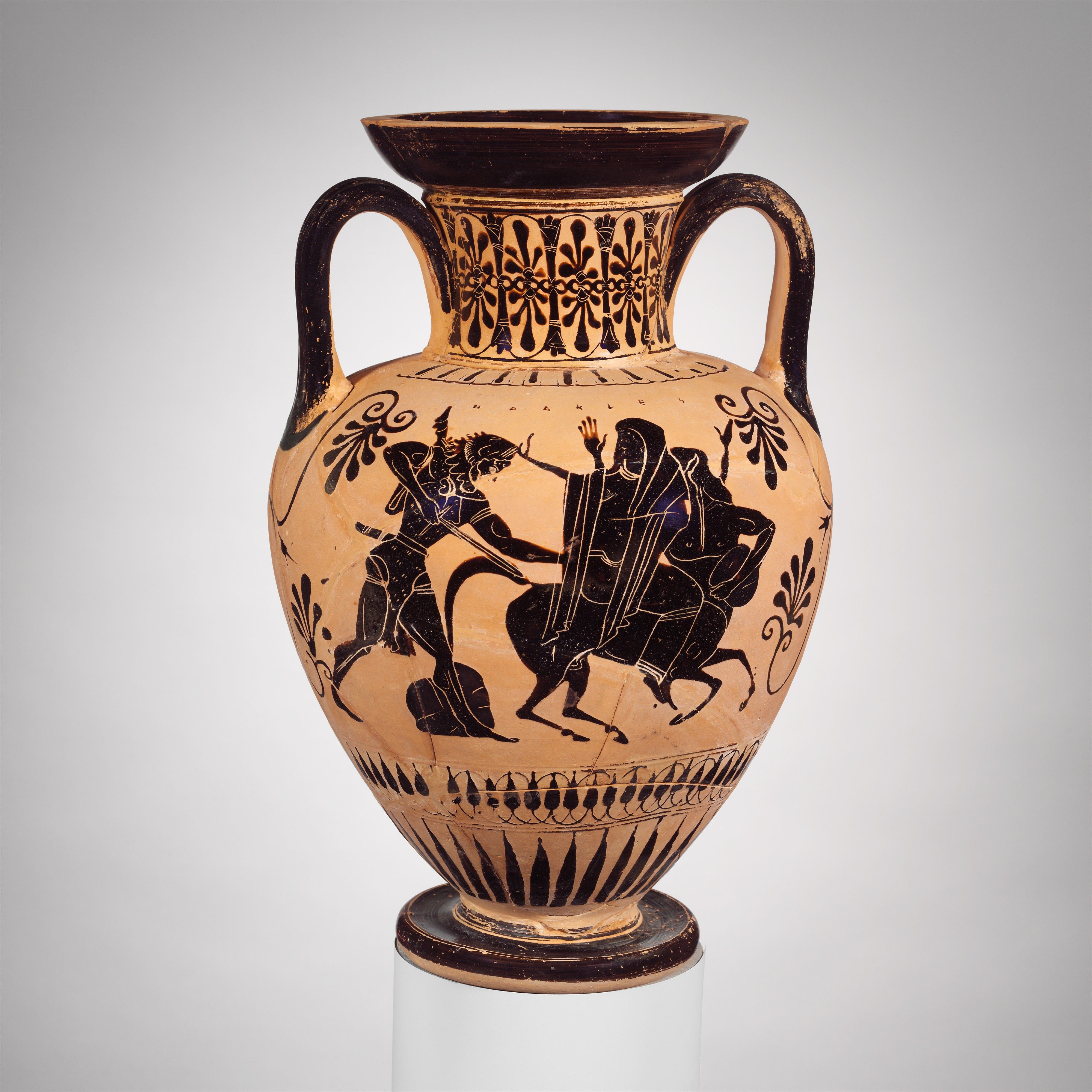 Terracotta neck amphora jar archaic ca 510 bc greek attic paintings reviewsmspy
