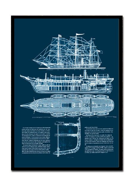 Ship blueprint nautical technical drawing of a by empressionista ship blueprint nautical technical drawing of a by empressionista 2300 malvernweather Gallery