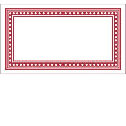Red Dots Rectangle Labels  Red Dots Paper Source And Label Tag
