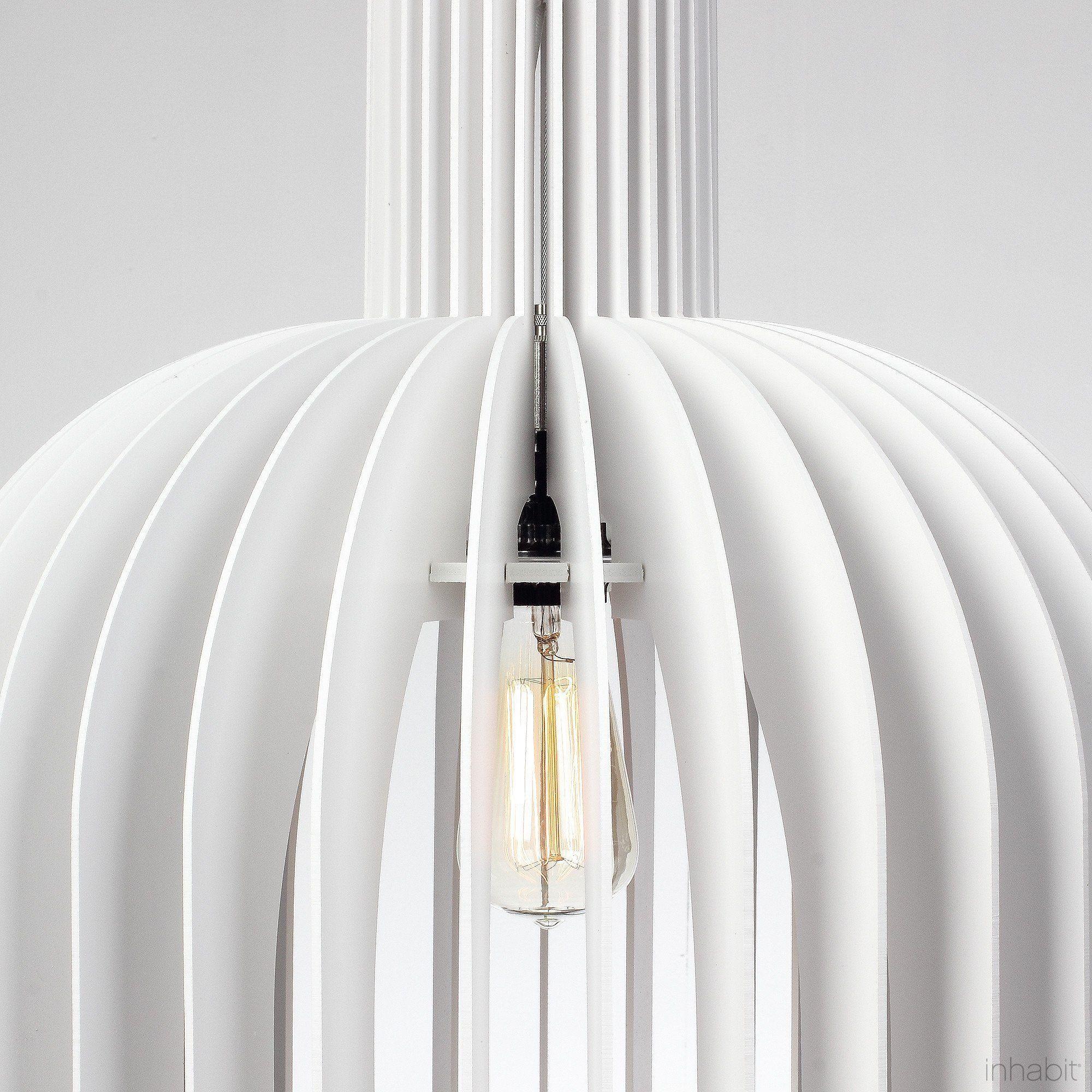 Amien white sculptural pendant light diy canopy canopy