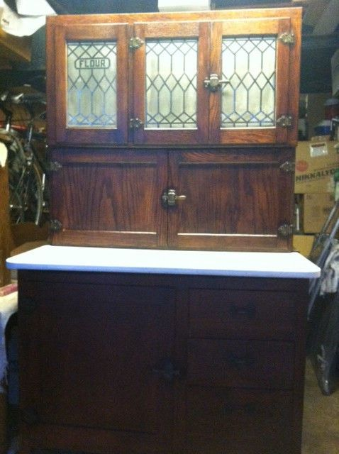 Best Antique Nappanee Oak Hoosier Kitchen Cabinet Made In Usa 400 x 300
