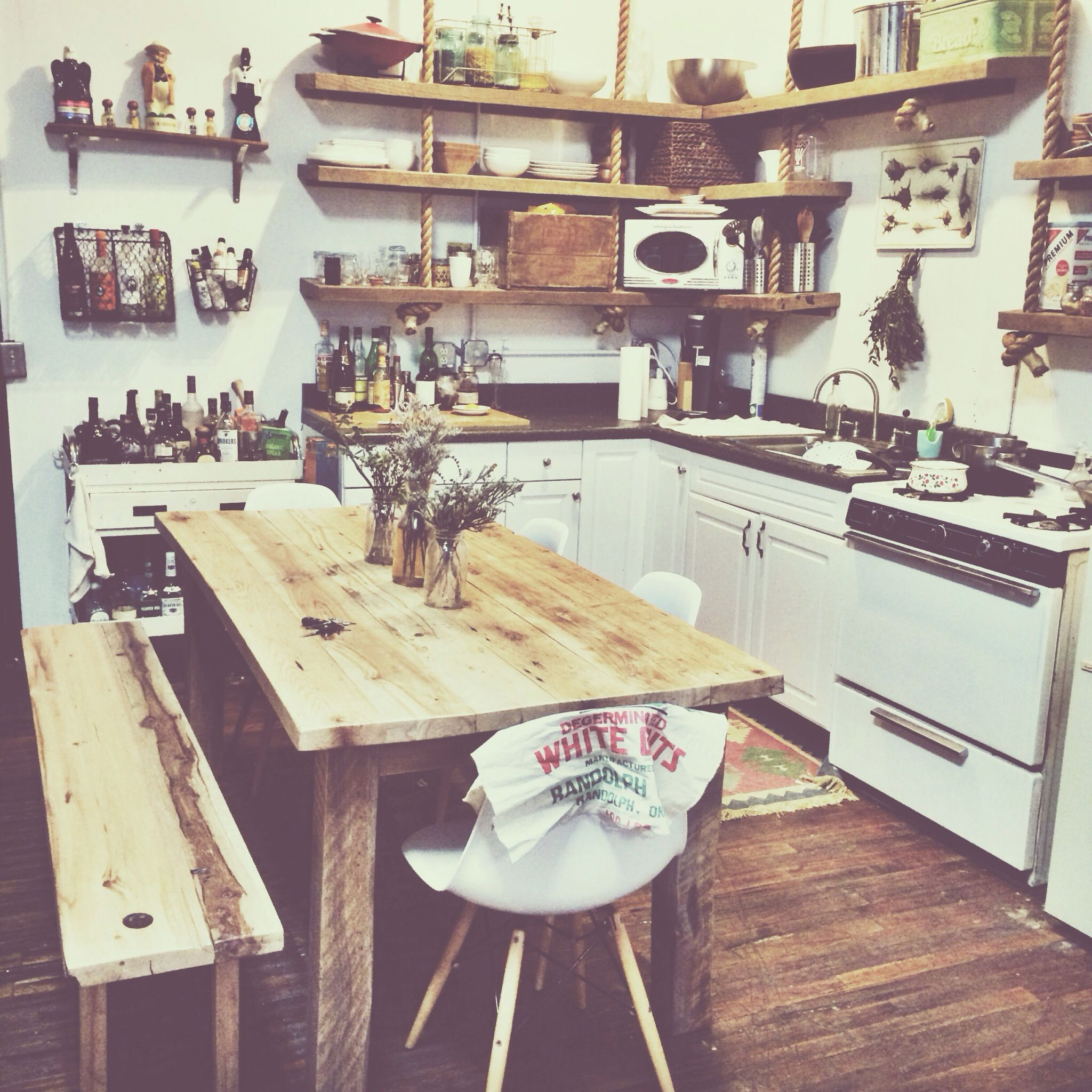 exposed shelves in my loft hippie kitchen home kitchens kitchen inspirations on hippie kitchen ideas boho chic id=67062