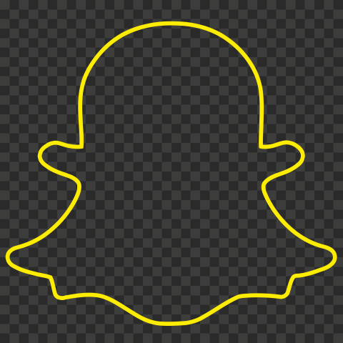 Hd Yellow Snapchat Outline Ghost Logo Icon Symbol Png Ghost Logo Logo Icons Yellow Snapchat