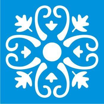 Estencil Formato Arabesco Folhas 10x10cm 144 Stencil