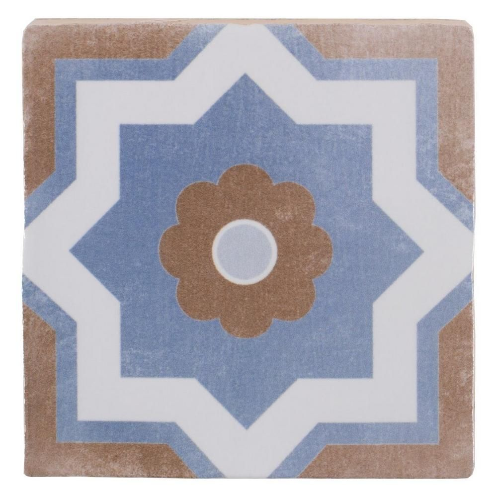 Floor And Decor Tile Cutter Barcelona Blue And Taupe Ceramic Tile  Taupe Porch And Kitchens