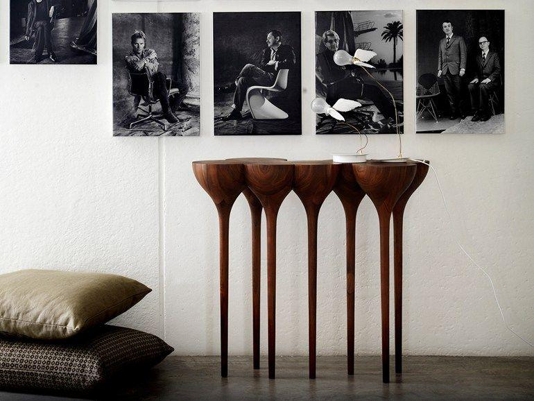 Walnut Console Table Esgrimas By Camus Collection Design Paco Camus Contemporary Furniture Design Furniture Design Inspiration Artistic Furniture