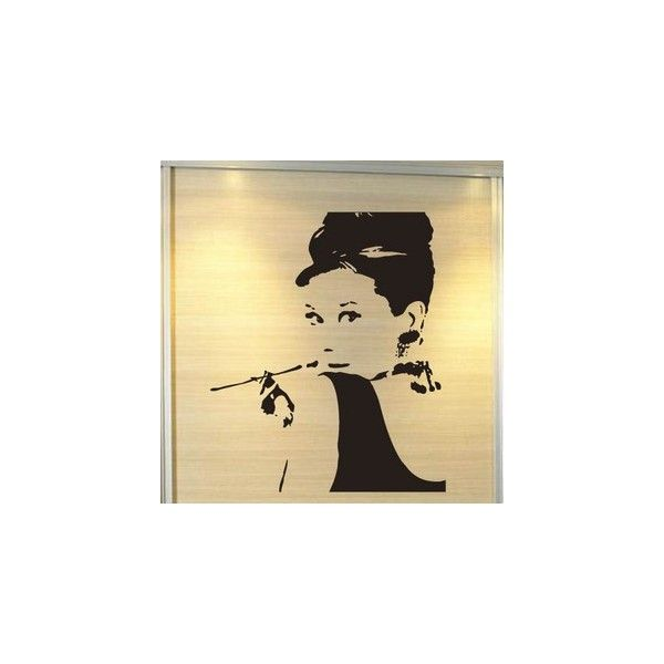 Audrey Hapburn wall art sticker - Celebrity - Wall Stickers Decals ...