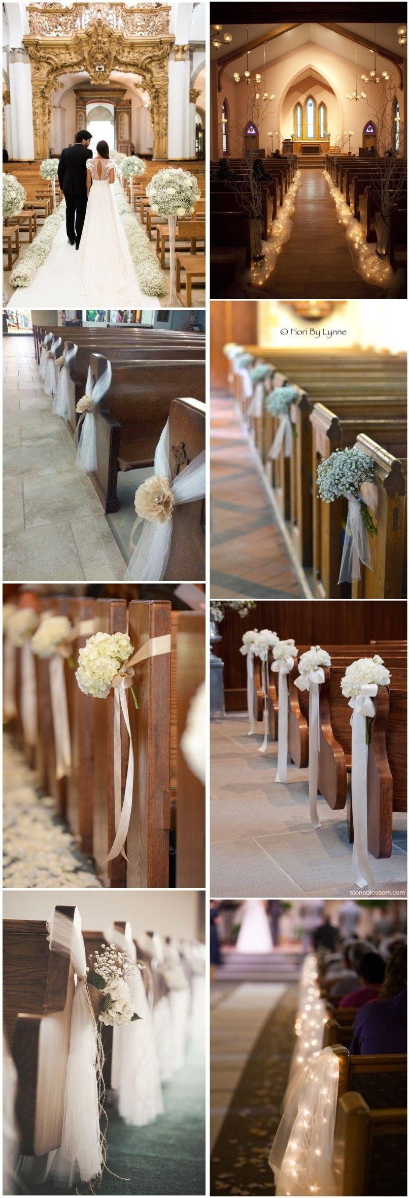 Unique church wedding decoration ideas   Stunning Church Wedding Aisle Decoration Ideas to Steal  Church