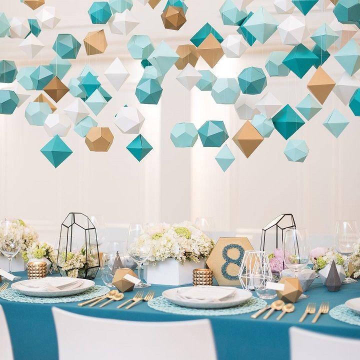 Modern Wedding Decoration Ideas: Geometric Wedding Decor For The Modern Bride