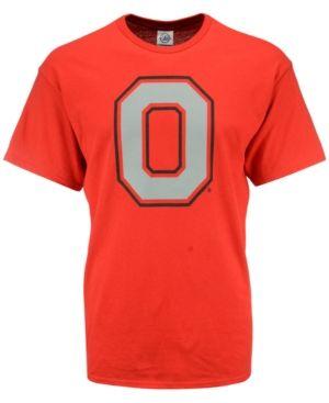 J America Men's Ohio State Buckeyes Big Logo T-Shirt - Red S