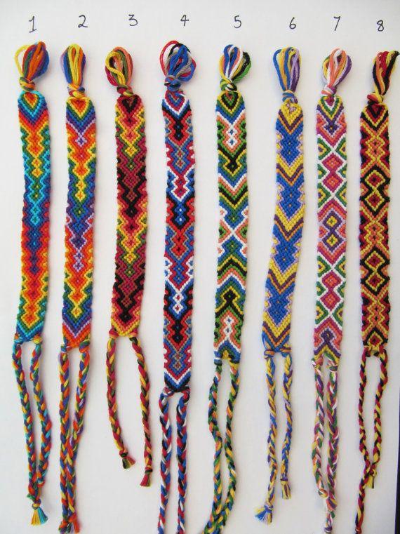 Handmade Friendship Bracelet Woven Colorful Owl Eyes Arrowhead And Zigzag Bracelets Via Etsy