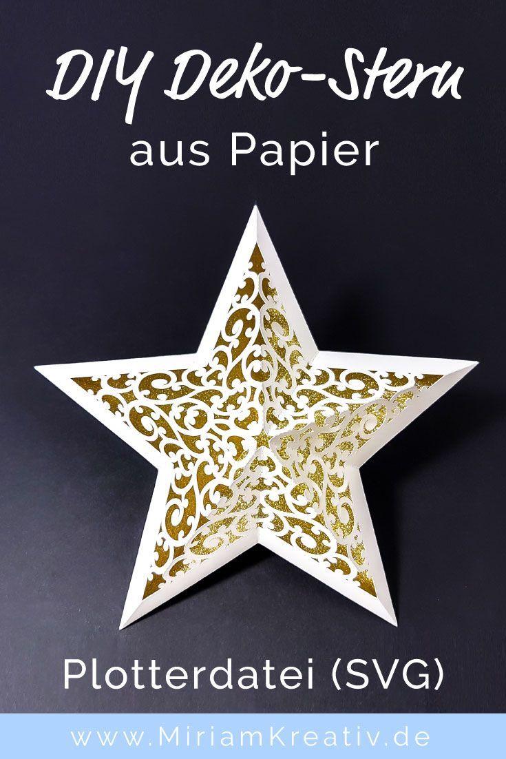 Schnörkel-Stern (groß) - MiriamKreativ.de