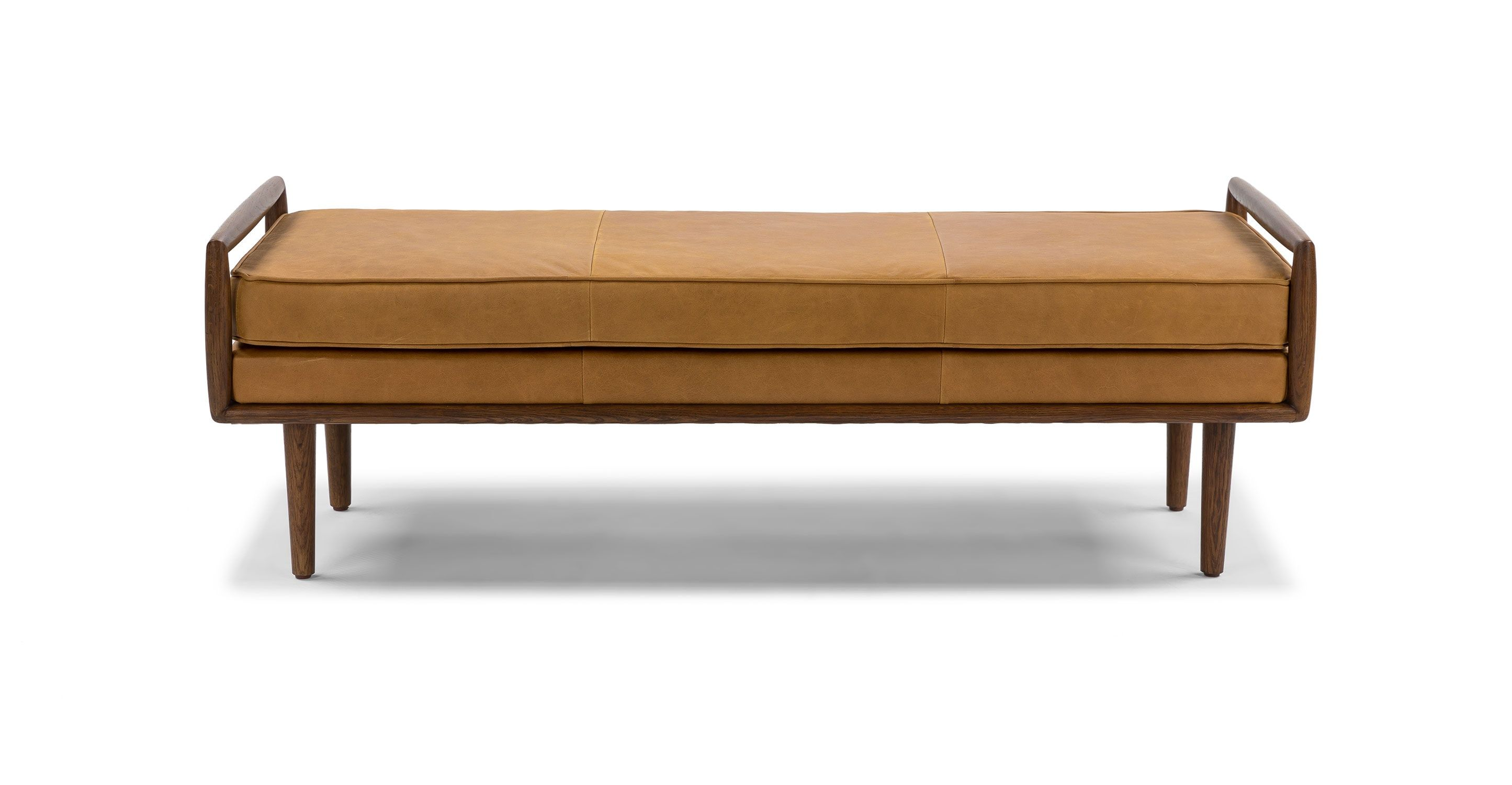 Ansa Charme Tan Bench Bedroom Bench Modern Mid Century Bedroom Furniture Mid Century Bench