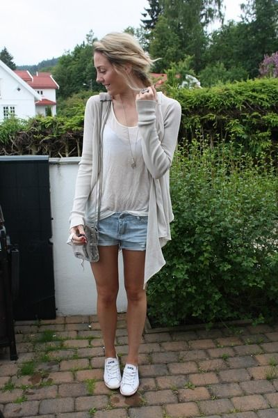 beige Andersen   Lauth cardigan - white low Converse shoes ... 0a25973a24