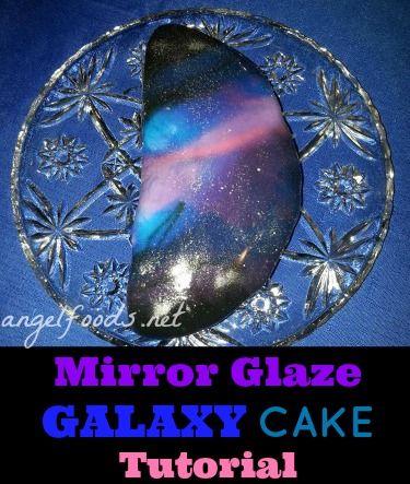 Mirror Glaze Galaxy Cake Tutorial Mirror Glaze Cakes