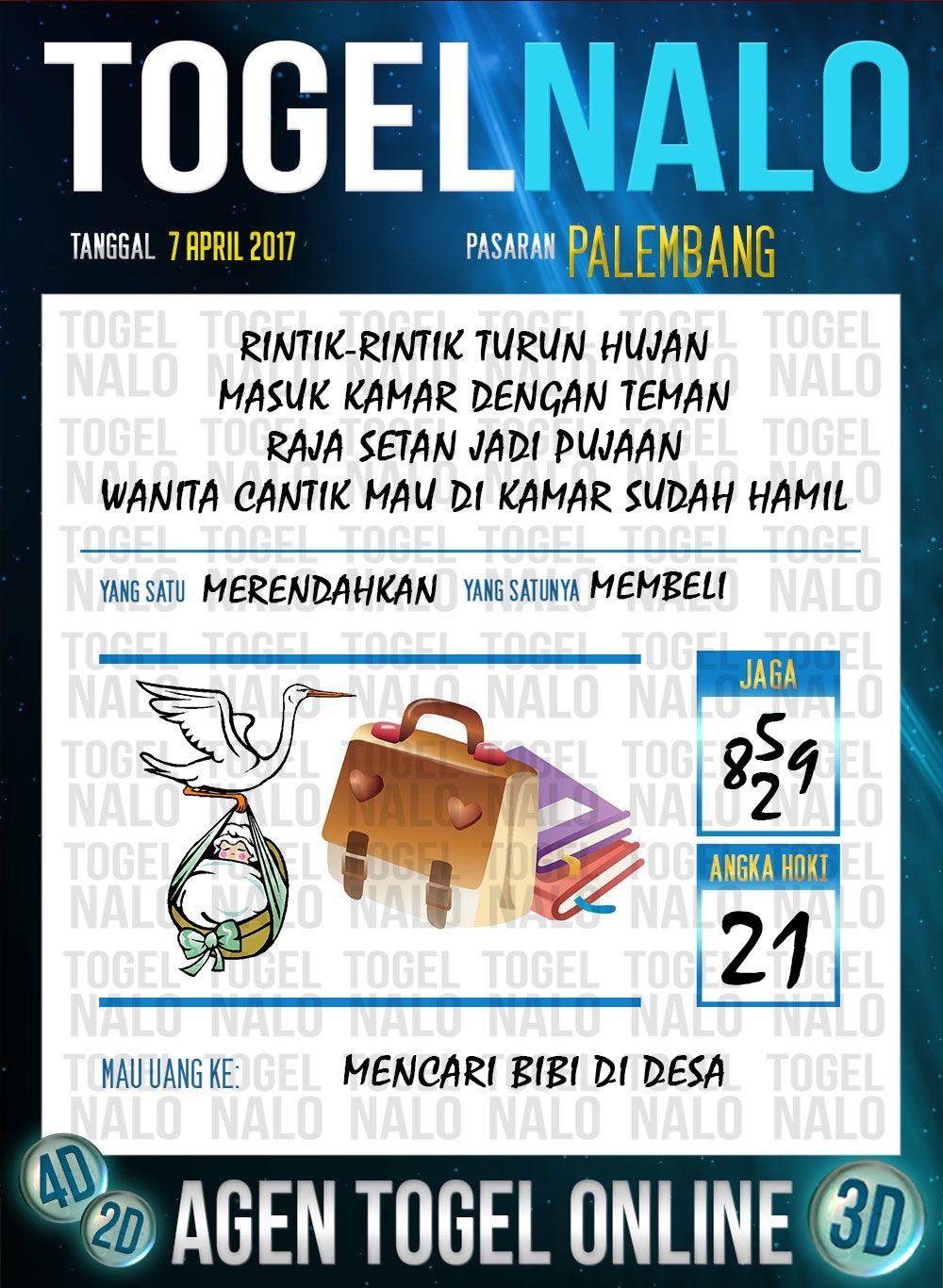 Angka Mimpi 5D Togel Wap Online TogelNalo Palembang 7 April 2017