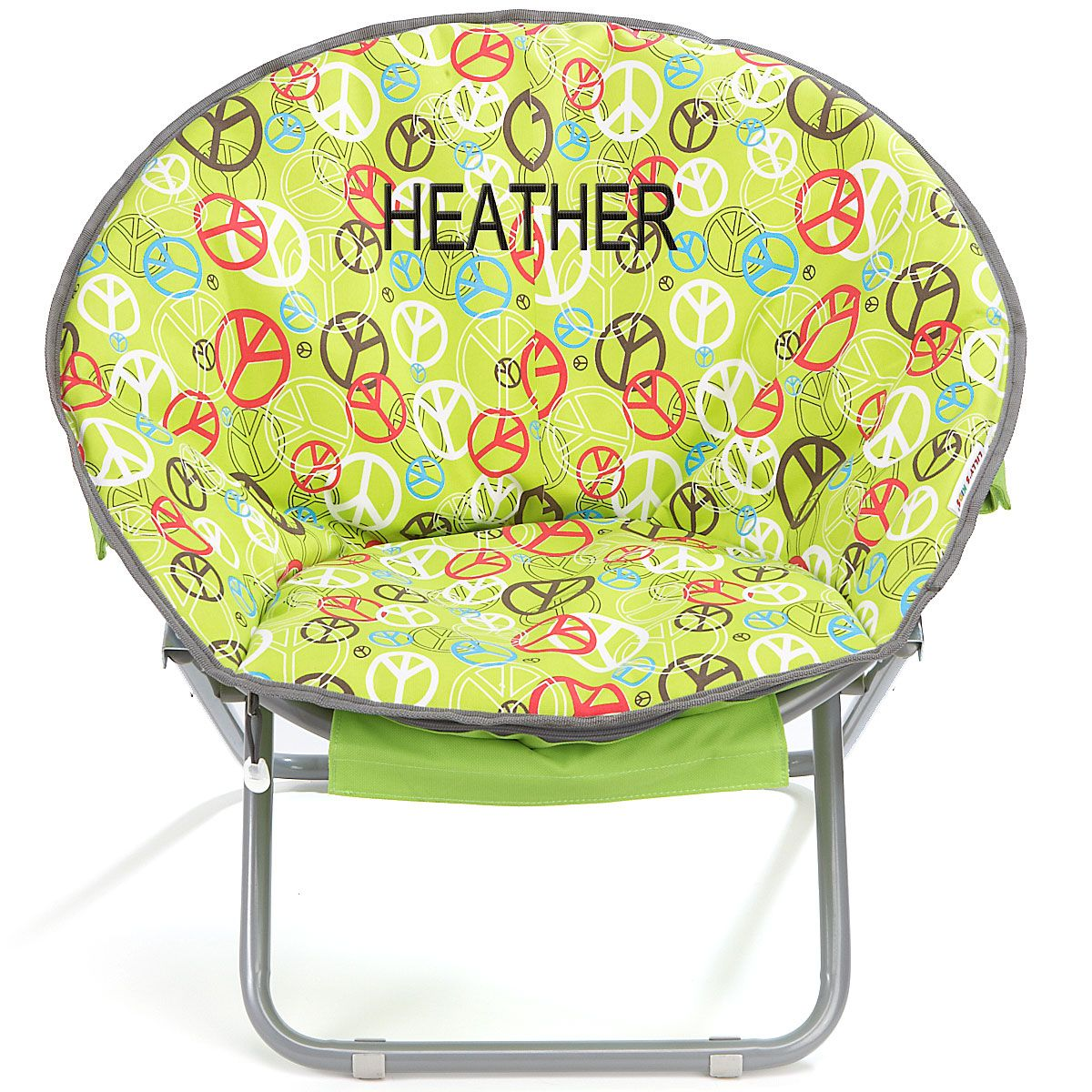 Just because my name is on it already!!-Peace Sign Saucer Chair in Back to School from Lillian Vernon