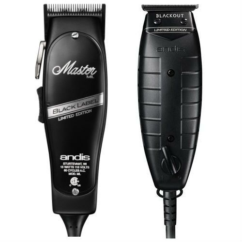 Andis Black Label Master Clipper Blackout T Outliner Combo